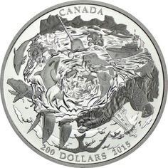 200 Dollar Silber Küstengewässer Kanadas MP