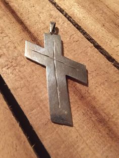 Vintage Taxco Cross Sterling Silver Pendant Jewelry Etched Rustic https://www.etsy.com/listing/257739097/vintage-taxco-cross-sterling-silver?utm_source=socialpilotco&utm_medium=api&utm_campaign=api  #jewelry #necklace