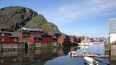 Stamsund rorbuer in Lofoten islands, Norway