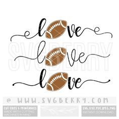 Love Football SVG / Live Love Football SVG / Football Mom Spirit Shirt Tshirt / Football HTV / Football Junkie Stitches Cutting Files / Bk by SVGBerry on Etsy https://www.etsy.com/listing/544034481/love-football-svg-live-love-football-svg