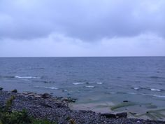 Lake Ontario in slight mist of rain