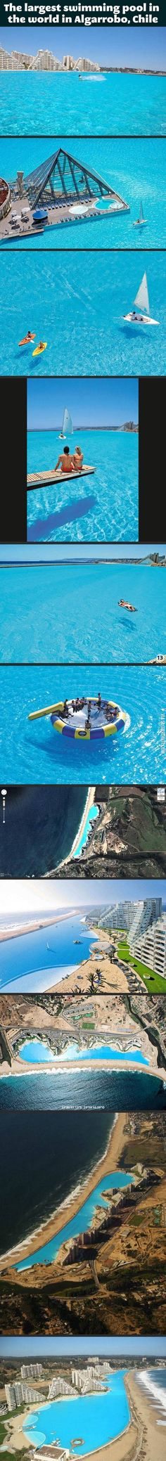 The world's largest swimming pool.