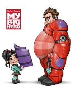 I'm not a big Wreck it Ralph fan, but this is sweet! My Big Hero by SteveGibson.deviantart.com on @deviantART