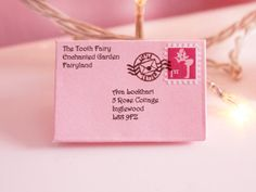 Handmade, Miniature Tooth Fairy Letter Pink Tooth Fairy Envelope via Etsy Diy Arts And Crafts, Cute Crafts, Crafts For Kids, Tooth Fairy Receipt, Fairy Crafts, Pink Envelopes, Tooth Fairy Pillow, Fairy Land, Children And Family