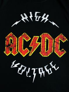 High Voltage Official Hard Rock and Roll Music Black Mens T-shirt Rock N Roll Baby, Rock N Roll Music, Hard Rock, Rock Logos, Rockband Logos, Rock Band Posters, Guns N' Roses, Tenacious D, Digital Foto