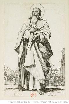 [Les grands apôtres debout, représentant le Sauveur, la Bienheureuse Marie et les saints apôtres]. [11], [Saint Barthélemy] : [estampe] / [Jacques Callot] - 1