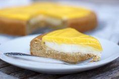 Mango curd taart