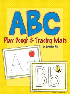 ABC play dough and tracing mats....great with play dough, wikki stix etc.