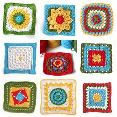 Love the happy, sunshiney colours in these granny squares.