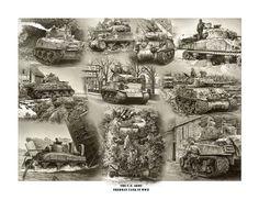The Sherman Tank in WWII S/N Print