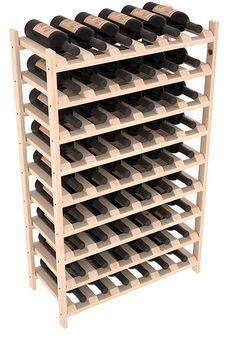 54 Bottle Stackable Wine Storage Rack Kit in Pine.- 54 Bottle Stackable Wine Storage Rack Kit in Pine. 13 Stains to Choose From! Wine Racks America, Wine Rack Storage, Wine Bottle Rack, Wine Cellar Racks, Bottle Labels, Wine Bottles, Wine Decanter, Wine Fridge, Wine Refrigerator