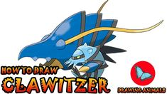 Learn How To Draw Clawitzer Pokemon ** Leave the comments for your request about the news lesson! Please help our channel grow by giving LIKES, sharing with . Pokemon Ash Greninja, Draw Pokemon, Pokemon Charmander, Pokemon Sun, Pokemon Cards, Drawing Animals, Animal Drawings, Art Hub, Simple Art