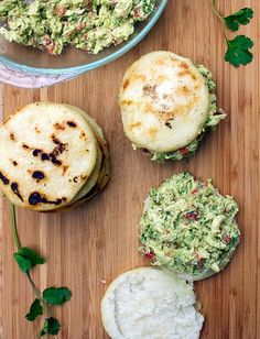 Venezuelan Arepas with chicken and avocado - Reina Pepiada | Panning The Globe