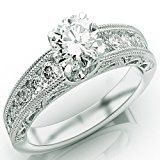 #2: 1.8 Carat Round Cut Designer Channel Set Diamond Engagement Ring with Milgrain (J Color I1 Clarity)