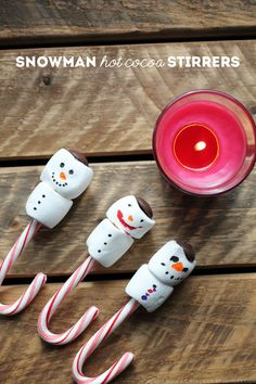 Snowman Hot Cocoa Stirrers