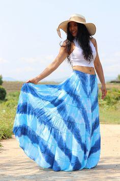 Boho Skirt / Maxi Skirt / Maxi Boho Skirt /Modest Skirt / Beach Skirt /Full Length skirt / Tie Dye Skirt/ Long Skirt Modest Skirts, Boho Skirts, Maxi Skirts, Beach Skirt, Beach Dresses, Maxi Skirt Outfits, Wrap Skirts, Drop Crotch Pants, Full Length Skirts