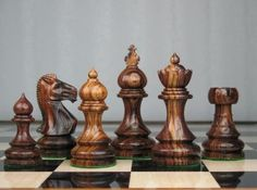 Weighted Taj Staunton Chess Set Carved Rose Wood Pieces. http://www.chessbazaar.com/chess-pieces/wooden-chess-pieces/weighted-taj-staunton-chess-set-carved-rose-wood-pieces.html