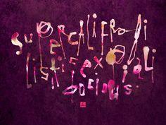 supercalifragilisticexpialidocious calligraphy
