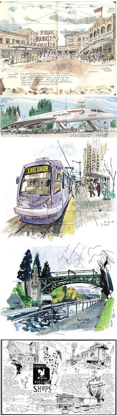 Gabi Campanario #urban #sketch #travel #journal http://thetoolsartistsuse.com/2009/03/gabi-campanario/