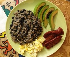 Traditional Costa Rican breakfast - gallo pinto which is mainly rice and beans. Find out about Costa Rican food here: http://mytanfeet.com/about-cr/costa-rican-food/