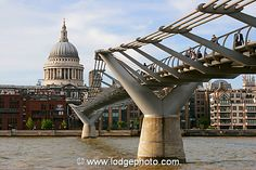 I've been on the Millennium Bridge, as well. I remember walking across it in a storm. My dad was incredibly anxious to get back to the hotel and I wanted to stay outside.