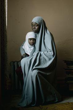 muslim, mother, daughter, portrait, muslimah, black, new jersey