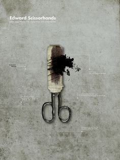 Edward Scissorhands Alternative Movie Poster by Nikiforos Kollaros, via Flickr