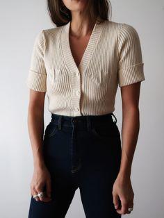 Knit Cream Top