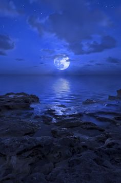 A special shot of the recent Blue Moon event that just passed in August 2012.  Photo by: Justin Kelefas