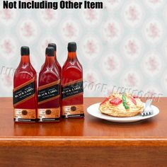 Find More Doll Houses Information about 4 PCS Black Label Whiskey Wine Bottles 1/12 Miniature for Kitchen Dollhouse Accessories Re ment,High Quality miniature animal,China miniature cylinder Suppliers, Cheap miniature furniture from LunaDore on Aliexpress.com