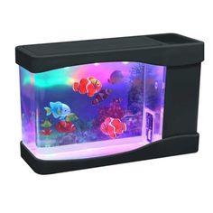 Lightahead Artificial Mini Aquarium Fish Tank Multi Color LED Swimming Fish Tank with Bubbles For Sale 5 Gallon Aquarium, Mini Aquarium, Aquarium Kit, Aquarium Fish Tank, Fish Aquariums, Fake Fish Tank, Betta Fish Tank, Fish Tanks, Green Led Lights