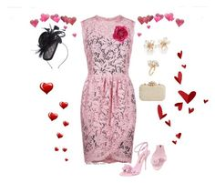 """""""A Valentine's date"""" by veronababy on Polyvore featuring Dolce&Gabbana, Sophia Webster, Kenneth Jay Lane, Ross-Simons, Glint, Suzanne Bettley and Gucci"""
