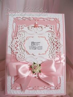 best wishes in pink card by Christina Griffiths
