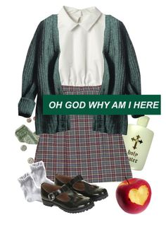 """""""holy water and a school girl"""" by nymphet-dream ❤ liked on Polyvore featuring Prada, 1937, Topshop and vintage"""