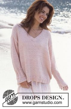 Free knitting patterns and crochet patterns by DROPS Design Easy Sweater Knitting Patterns, Cardigan Pattern, Easy Knitting, Knit Patterns, Knitting Sweaters, Drops Design, Loose Knit Sweaters, Knit Or Crochet, Free Pattern