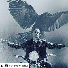 """Instagram: """"#charliehunnam #jaxteller #sonsofanarchy #reapercrew #soafamily"""""""