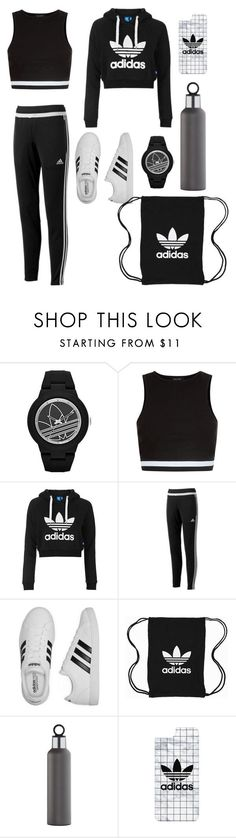 """Adidas"" by ryueunah ❤ liked on Polyvore featuring adidas, New Look, Topshop, adidas Originals, blomus and Casetify"