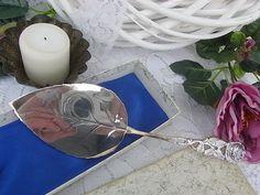 Vintage Tortenplatten - Tortenheber Hildesheimer Rose versilbert shabby - ein Designerstück von artdecoundso bei DaWanda