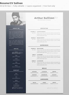 Perfect Resume/CV Sullivan   #Resumes Stationery Download Here:  Https://graphicriver.net/item/resumecv Sullivan/19452695?refu003dalena994