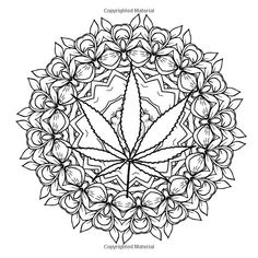 The Cannabis Collection: Coloring Book for Adults with Quotes (Little Known Facts and Coloring Pages Relating to Cannibus, Hemp, and Marijuana) Leaf Coloring Page, Skull Coloring Pages, Detailed Coloring Pages, Fairy Coloring Pages, Printable Adult Coloring Pages, Coloring Pages To Print, Mandala Coloring, Coloring Books, Kids Coloring