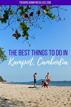 The Best Things to do in Kampot - my Favorite Place in Cambodia. Kampot is a sleepy riverside town in Kampot Province in Cambodia's south. It is full of dilapidated but beautiful French Colonial Buildings and it's famous for having the best quality pepper in the world. There are so many things to do around Kampot other than just exploring the town - click through to read my guide to the Best Things to do in Kampot. | The World on my Necklace #kampot #cambodia #thingstodo #travelguide #asia…