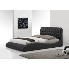 I absolutely LOVE this bed Rosetta Queen Size Leather Bed Black