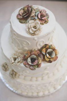 Wedding cake paper flowers. $45.00, via Etsy.
