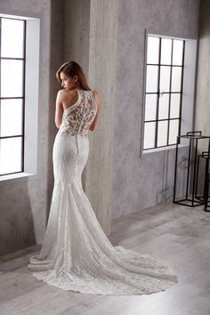eddy k 2019 couture bridal sleeveless halter neck full embellishment elegant fit and flare wedding dress lace back chapel train bv -- Eddy K. Corset Back Wedding Dress, Outdoor Wedding Dress, Fit And Flare Wedding Dress, Wedding Dresses 2018, Gorgeous Wedding Dress, Princess Wedding Dresses, Designer Wedding Dresses, Dress Lace, Lace Wedding