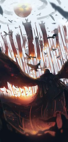 ArtStation - Swain, The Noxian Grand General - League of Legends (Day 7/365), James Excalibur
