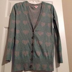 """Spotted while shopping on Poshmark: """"Heart Pattern Cardigan""""! #poshmark #fashion #shopping #style #Mossimo Supply Co #Sweaters"""
