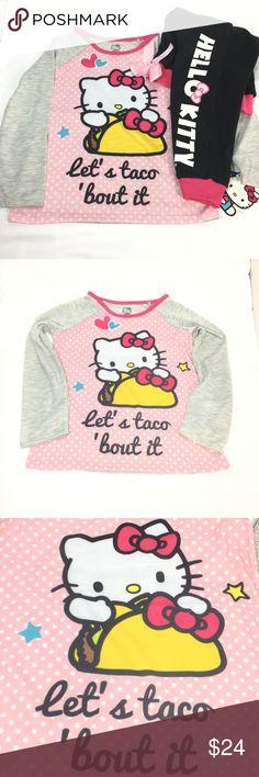 a5286889b1 6 6X Hello Kitty PJ Set Pink Black 2 Pc Jogger Hello Kitty Little