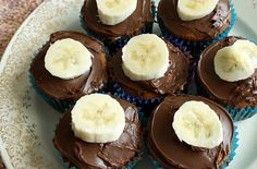 Peanut Butter Banana and Nutella Cupcakes