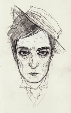 Annie Wu illustration of Buster Keaton. Have I mentioned I love both of them?