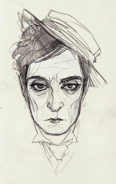 Buster Keaton drawing